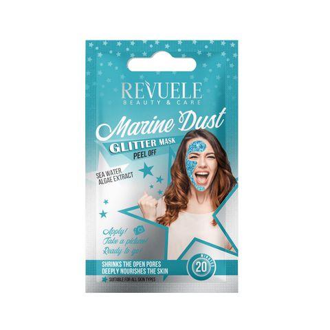Revuele Marine Dust Глитерна пилинг маска за лице за всеки тип кожа x15 мл