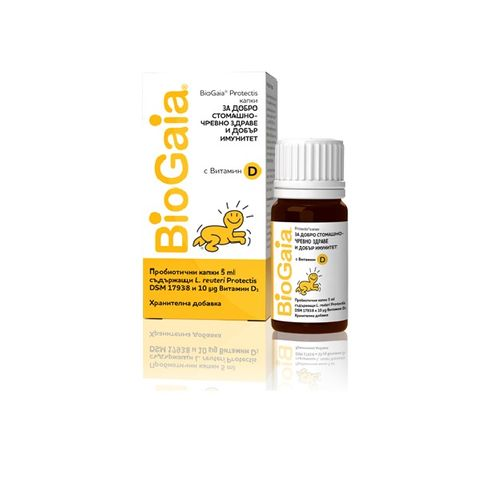 BioGaia Protectis Пробиотични капки с витамин D3 за добро чревно здраве и добър имунитет за бебета и деца х5 мл