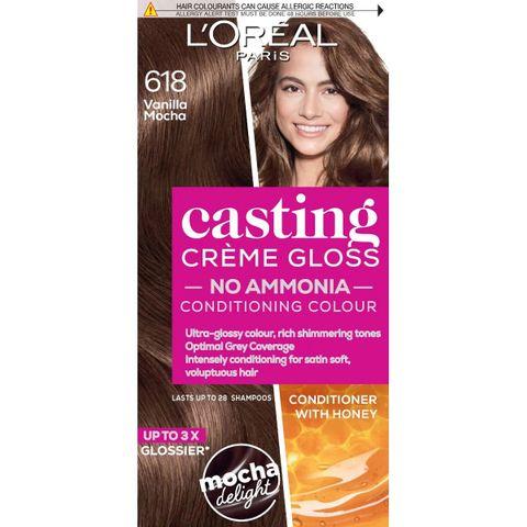Loreal Paris Casting Creme Gloss Безамонячна боя за коса, цвят 618 Vanila Mocha x120 мл