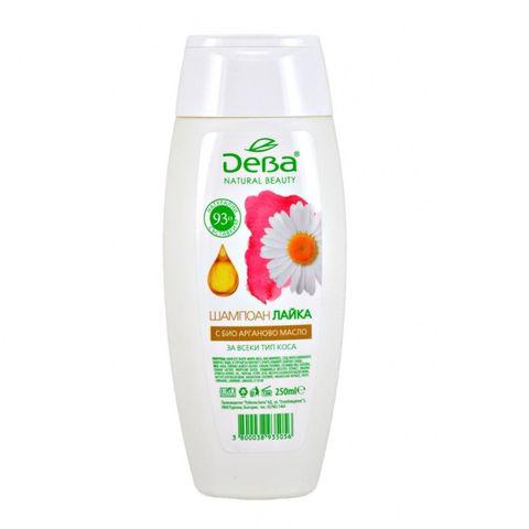 Deva Natural Beauty Шампоан Лайка с био арганово масло за всеки тип коса x250 мл