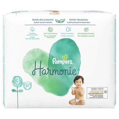 Pampers Harmonie S3 Midi Пелени за деца от 6 до 10 килограма x31 броя
