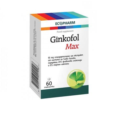 Ecopharm Гинкофол Макс 90мг х60 таблетки