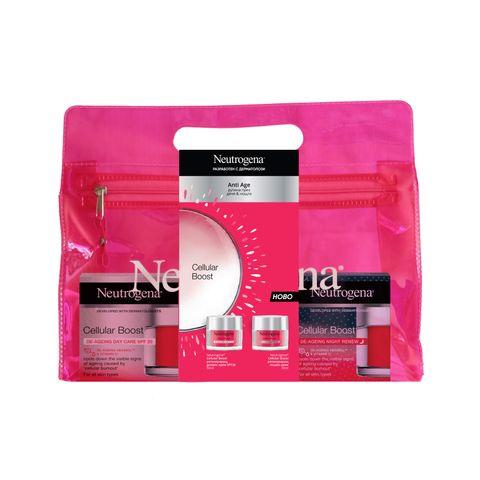 Neutrogena Cellular Boost Промо комплект Регенериращ дневен крем за лице с SPF20 x50 и Регенериращ нощен крем за лице за всеки тип кожа