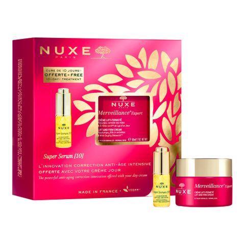 Nuxe Промо комплект Merveillance Expert Коригиращ крем против дълбоки бръчки за нормална кожа и Super Serum 10 Универсален концентрат за лице против стареене