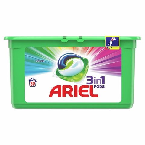 Ariel All in 1 Color Гел капсули за цветно пране 39 броя x23.8 грама