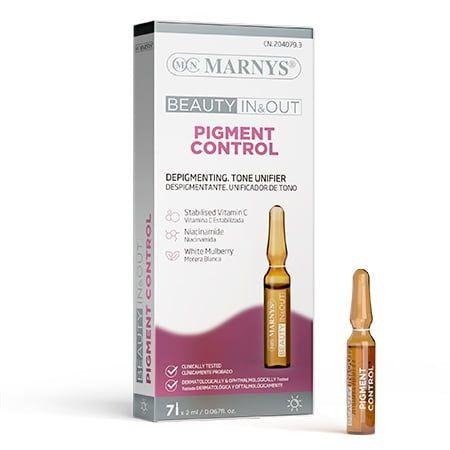 Marnys Pigment Control Депигментиращ и изразняващ тена серум за лице, 7 ампули x2 мл