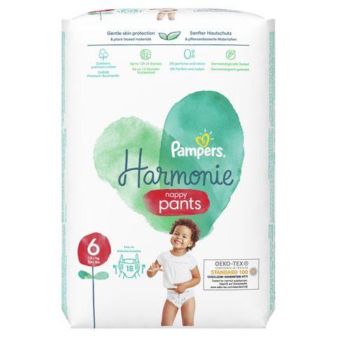 Pampers Harmonie Pants S6 Пелени-гащи за деца над 15 килограма x18 броя