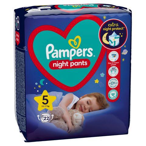 Pampers Night Pants S5 Нощни пелени-гащи за деца от 12 до 17 килограма x22 броя
